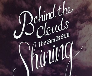 quotes, sun, and clouds image