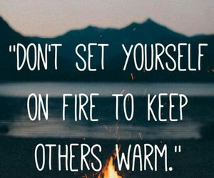 quotes, fire, and warm image