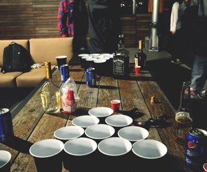 drink, friends, and beer pong image
