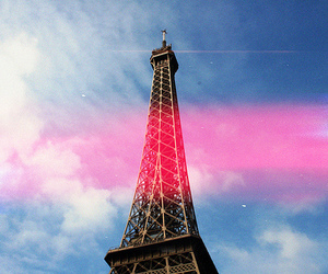 paris, sky, and eiffel tower image