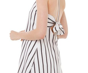 peter pan collar, bow back, and vertical stripes image