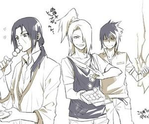 deidara, itachi, and sasuke image