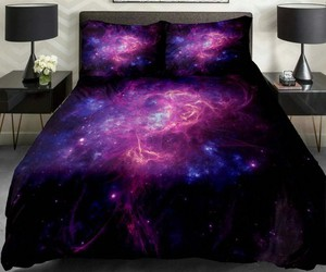 bed, galaxy, and beautiful image
