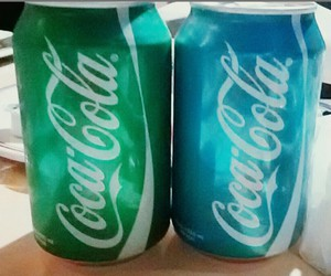blue, cocacola, and drink image