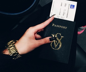 travel, passport, and trip image