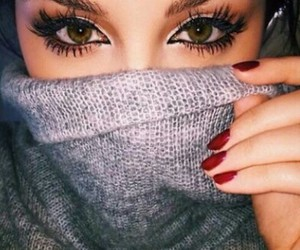 eyes, makeup, and nails image