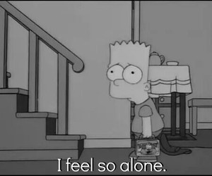 alone, bart, and sad image