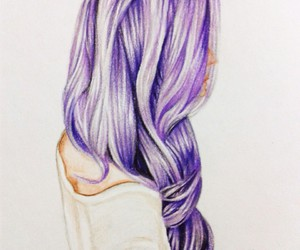 beautiful, illustration, and purple image