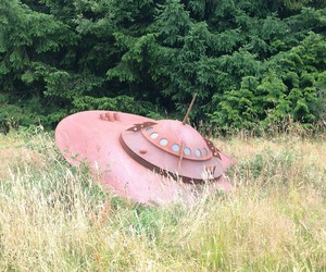 nature, pink, and spaceship image