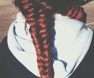 braid, fishtail, and ginger image