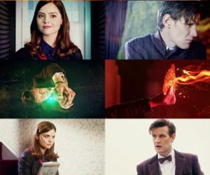 dw, eleventh doctor, and clara oswin oswald image