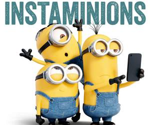 minions, funny, and selfie image