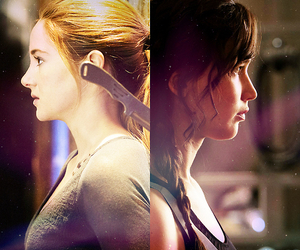 divergent, books, and the hunger games image