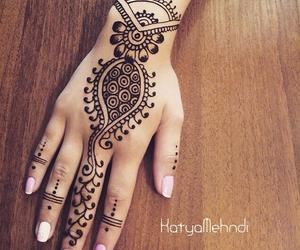 henna, henna tattoo, and tattoo image