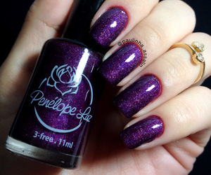 glitter, holographic, and nails image