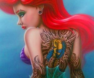 ariel, tattoo, and disney image