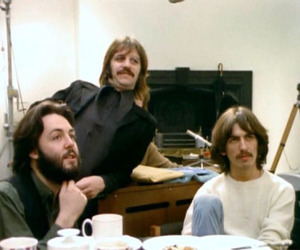 george harrison, Paul McCartney, and ringo starr image