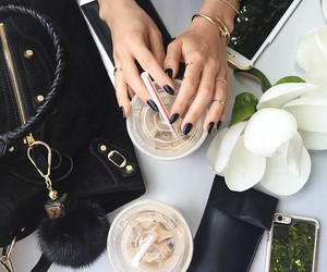 nails, coffee, and bag image