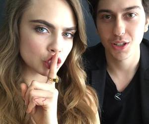 cara delevingne, paper towns, and nat wolff image