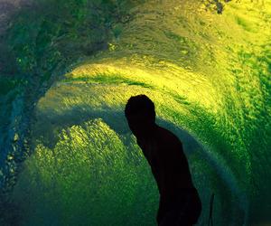 boy, paradise, and surf image