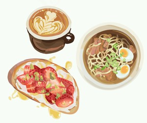 drawing and food image