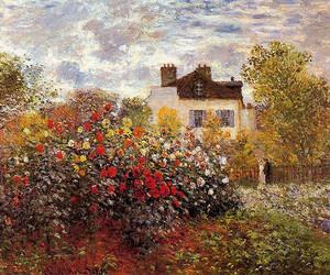 art, garden, and monet image