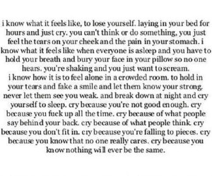 sad, depression, and alone image