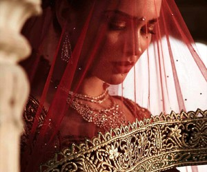 bride, indian, and red image