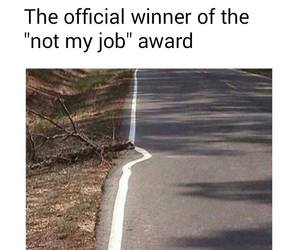 funny, lol, and not my job image