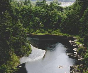 nature, river, and beautiful image