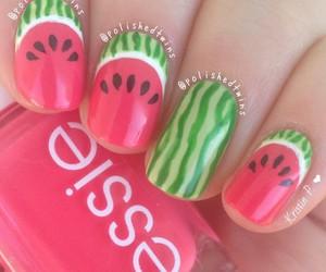 girly, nail art, and watermelon image