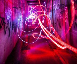 light, purple, and grunge image