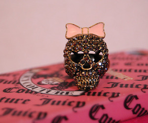 pink, skull, and ring image