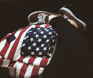 vans, usa, and backpack image