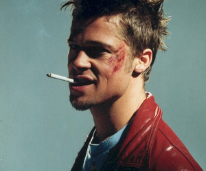 brad pitt, fight club, and cigarette image