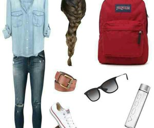 converse, denim, and outfit image