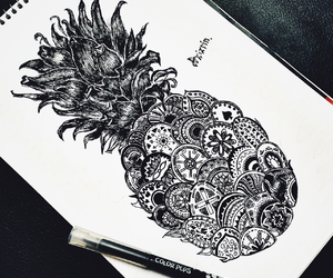 ananas and drawing image