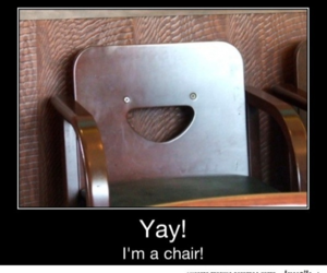 chair, happy, and yay image