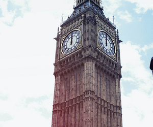 clock, vintage, and london image