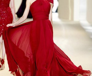 elie saab, fashion, and red image