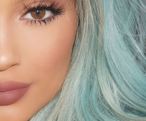 kylie jenner, blue, and hair image