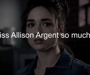 sad, teen wolf, and miss her image
