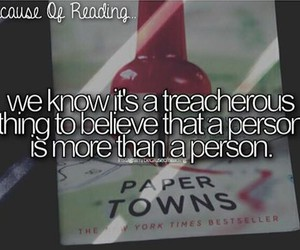 book, paper towns, and quotes image