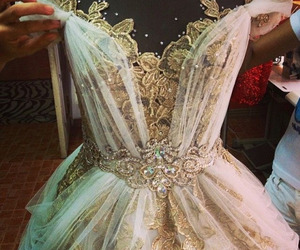 beautiful, lace dress, and dress image