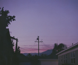 grunge, purple, and sky image