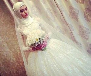 bride, hijab, and wedding image