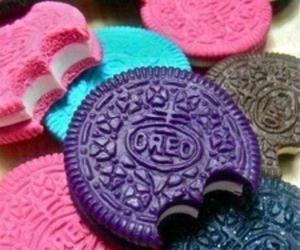 oreo, pink, and food image