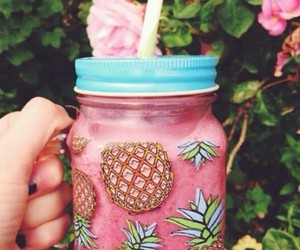 pineapple, pink, and smoothie image