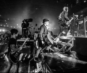 band, black and white, and FOB image