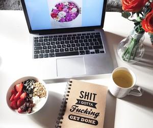 desk, fashion, and coffee image